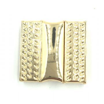 Champagne gold glue in magnetic clasp - square 22mm - inside 20mm x 3mm